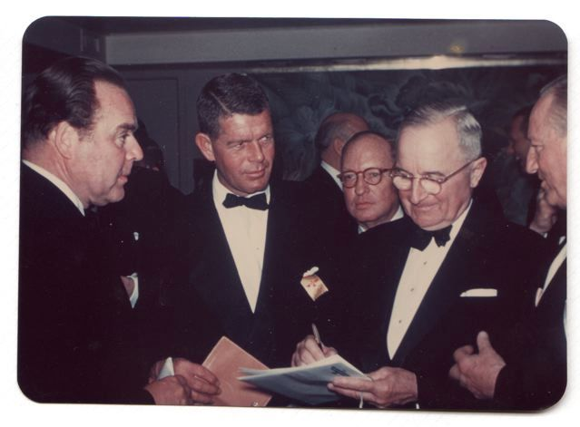 Jim with Harry Truman while working for The LA Times.